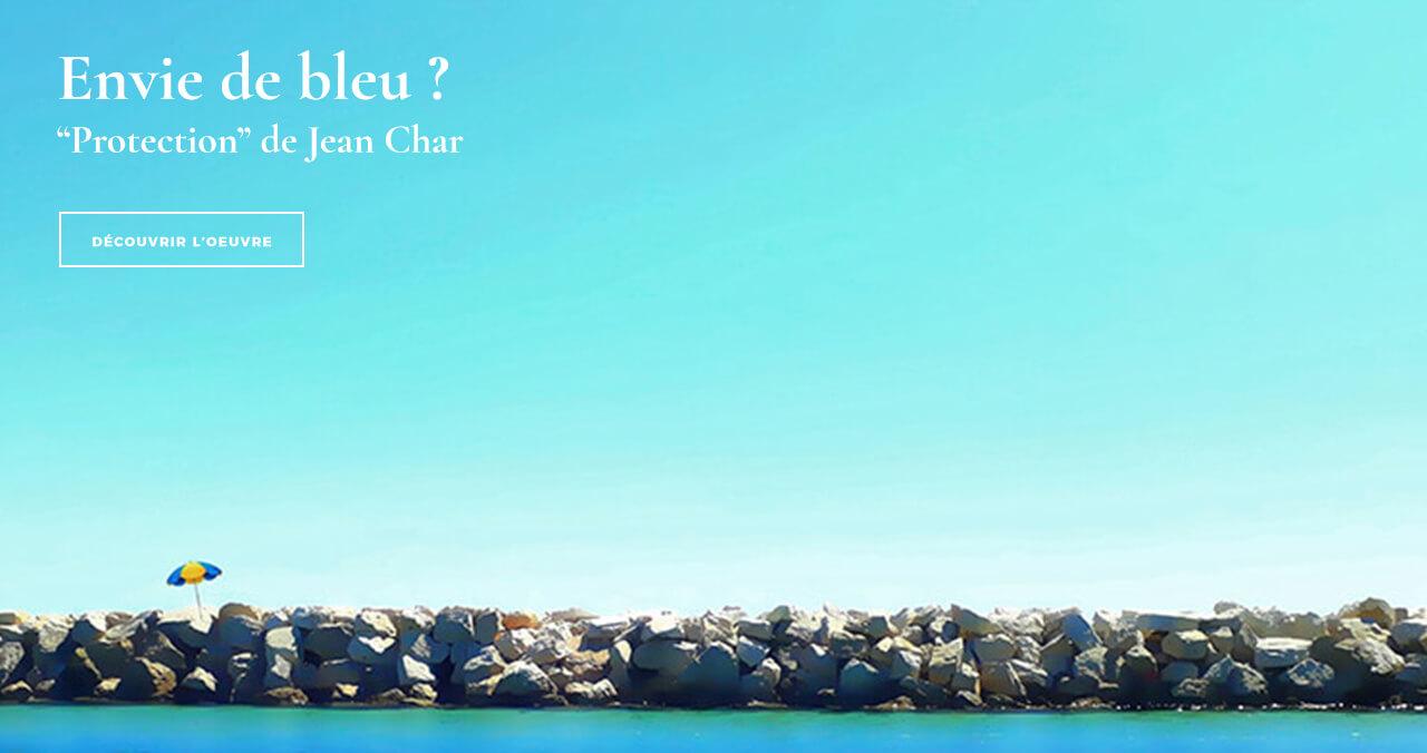 Envie de bleu ? Photographie de Marseille de Jean Char